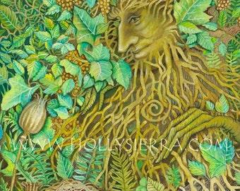 The Green Man - A Fine Art Greeting Card