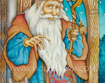 Merlin - A Fine Art Greeting Card