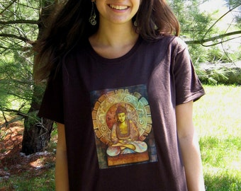 Buddha T- SHIRT - Woman's Fine Art Transfer T-Shirt -  XS S M L XL 2XL 3XL - Many Image and Color Choices