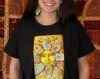Sun T- SHIRT - Woman's Fine Art Transfer T-Shirt - XS S M L XL 2XL 3XL - Many Image and Color Choices