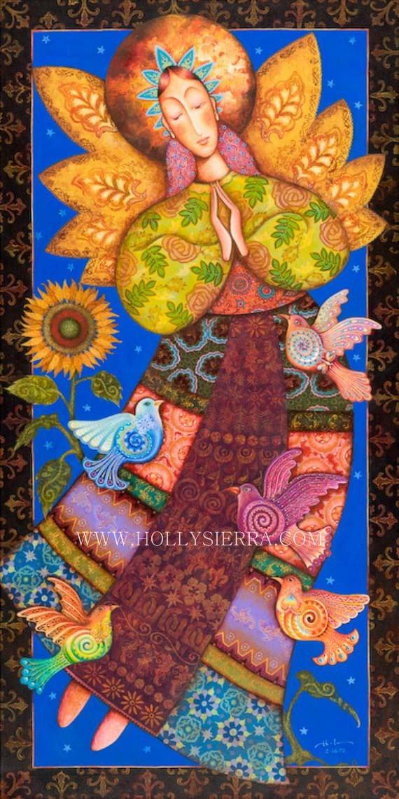 Angel De Santa Fe -  A Southwestern Folk Art Goddess