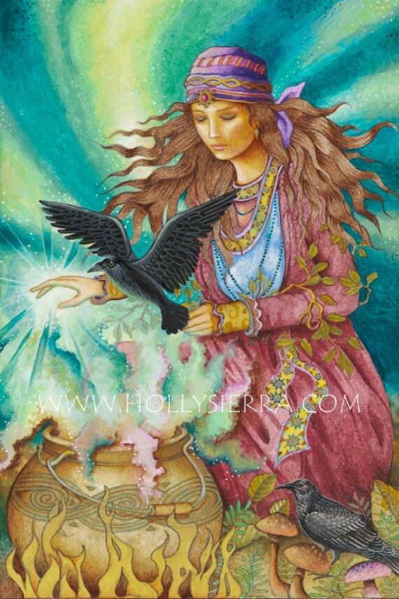 Morgan Le Fay - A Fine Art Greeting Card