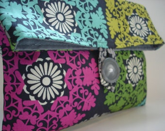 Modern Circle Print Makeup Bag Cosmetic Bag READY TO SHIP