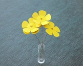 Guitar Pick Flower Bouquet - Yellow stemmed flowers  - Ready to Ship