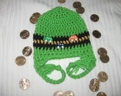 Reserved Listing for Angie Cars on the Road Green Crocheted Hats