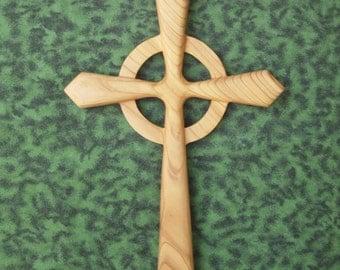 Celtic Cross-Wood Carved Christian Cross