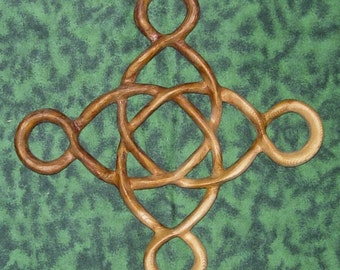 Prosperity Knot-Abundance and Well-Being-Celtic Wood Carving