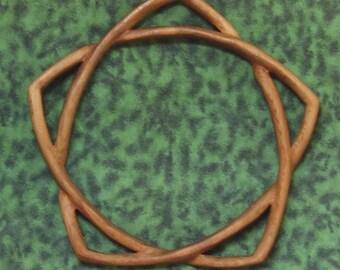 Shy Pentacle-Hidden Pentacle-Wiccan Pagan Symbol