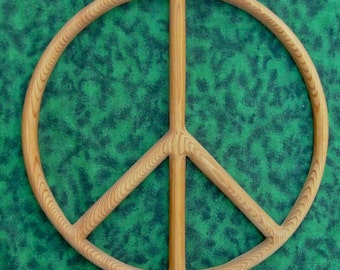 Peace Sign-Wood Carved Peace Symbol-Peace Movement- Peace Art, Wooden Peace Wall Hanging, Peace Home Decor