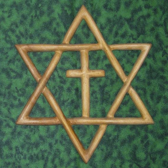 Messianic Star - Jewish-Christian Families-Star of David Christian Cross