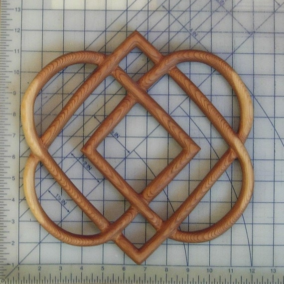 Celtic Knot of Four Hearts-Family Love Knot Wood by ...