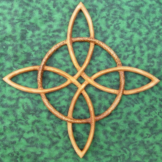 Wood Burned Compass Rose-Celtic Knot of Journey and Return-Sailors Knot Wood Carving