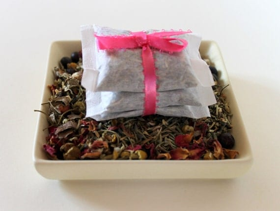 Set of three Romance tea bags