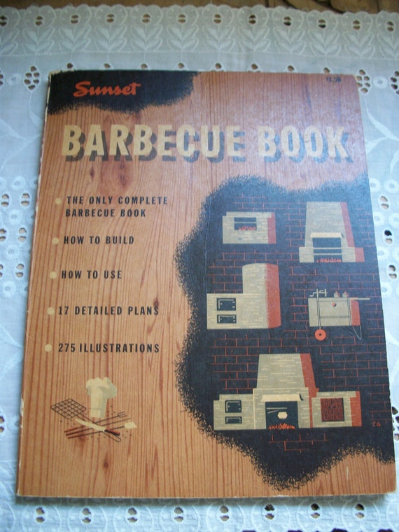 Vintage Sunset Barbecue Book
