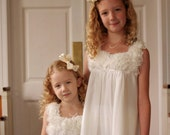 Flower Girl Fresh Water Pearls Necklace, Real Pearls, Junior Bridesmaids, Childrens Pearl Necklace Hand Knotted on Silk