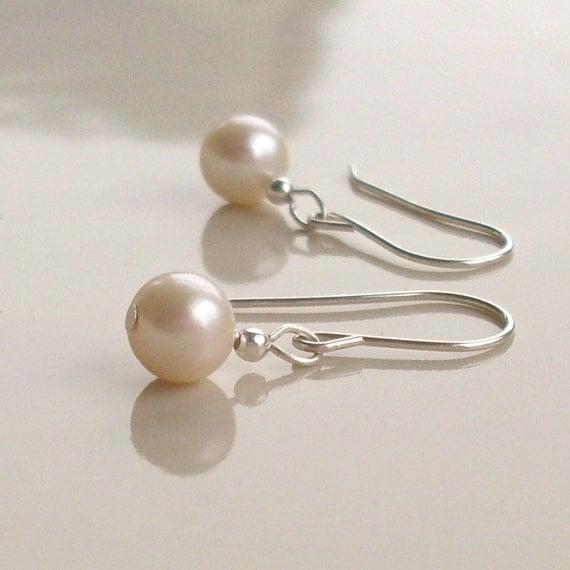 Fresh Water Pearls Sterling Silver Earrings