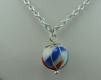 Hand-Crafted Marble Necklace