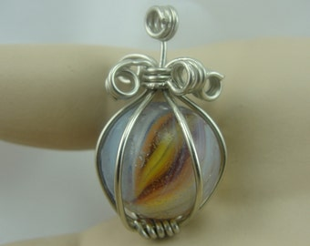 Wire Wrapped Sparkler Marble