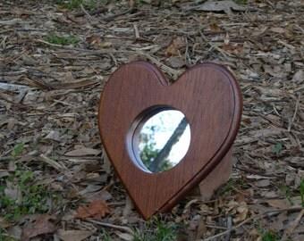 Heart Mirror Mahogany