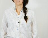 Vintage White Long Sleeve Lauren Conrad Top-ON SALE was 13.99