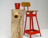 Organic Box Elder Stump Tall Table
