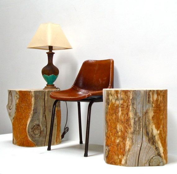 RESERVED FOR POM - Reclaimed Timber Side Table