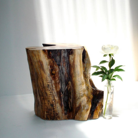 White Tree Stump Coffee Table: Cedar Tree Stump Table By Realwoodworks1 On Etsy