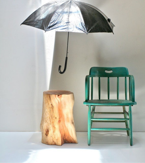 Juniper, Rain or Shine Stump Table
