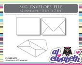 A7 Envelope SVG / Cut / Digital / Cricut Cut File w/ 12 Liners