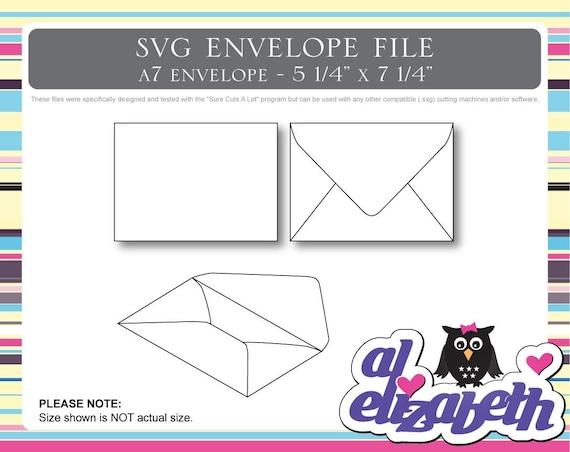 a7 envelope svg    cut    digital    cricut cut file w   12 liners