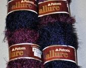 4 Skeins of Patrons Allure - Blue/Purple