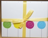 6 Lollipop blank cards