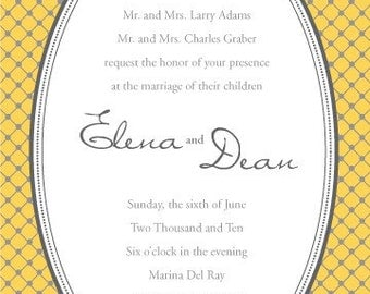 DIY Elena Wedding Invitation Ensemble - PDF only