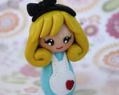 Alice in Wonderland kokeshi doll figurine