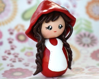 Little red riding hood cake topper figurine Made to order