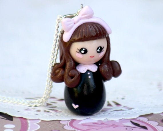 Lolita doll necklace charm pendant