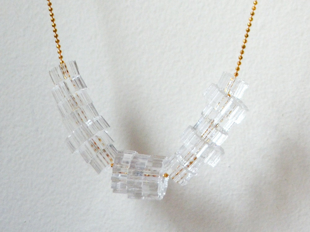 acrilic jewelry laser cut clear acrylic necklace translucent 6151