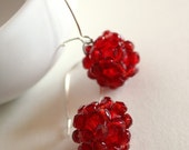 raspberries - earrings
