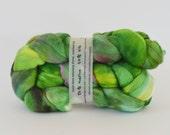 ooak MEADOW - hand-dyed silk / merino top 4.4 oz