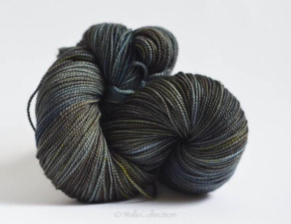 reserved listing no. 0704 - PETROLEUM... PearlSock, hand dyed yarn