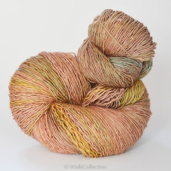 VINTAGE TEA PARTY ... Delicate Silk - hand dyed yarn