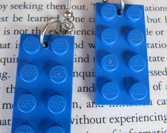 Lego Earring - Blue - Upcycled