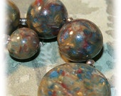 Polymer Clay Bead Set of 11 - Impression