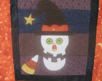 Mr. Halloween Table Runner Packaged Pattern from Quilt Doodle Designs