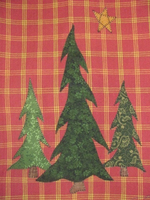 North Woods Pine Tree Applique Quilting Pdf Pattern For Tea