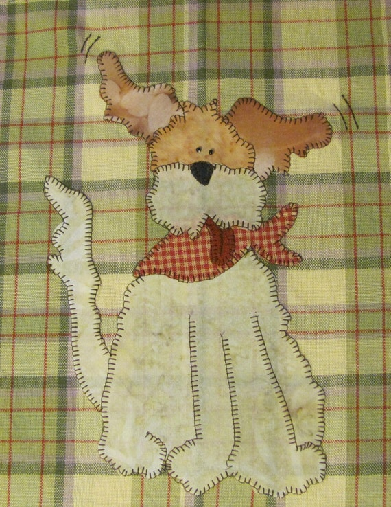 Wilson PDF Applique Pattern for Tea Towel by Quilt Doodle Designs