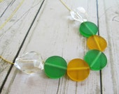 Resin and glass necklace - geometric and modern style