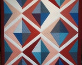 Quilted Wall Hanging -  Geometric in Earth Colors