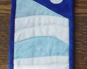 Winter Dreams 1 -- Quilted Fabric Postcard