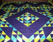 Quilt -- Zigzag in Purple and Green